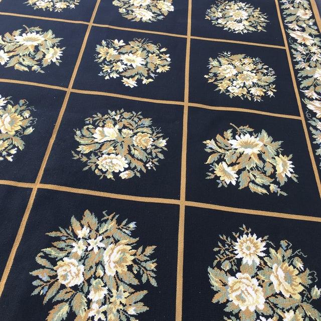 Stark Floral Motif Area Rug - 11′2″ × 14′6″ - Image 5 of 10