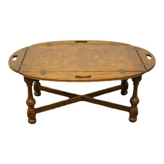 Ethan Allen Royal Charter Oak Accent Butler's Coffee Table For Sale