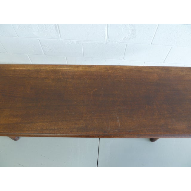 Brown Antique Wood Table With Carved Floral Motif For Sale - Image 8 of 13
