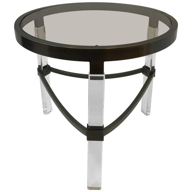 Acrylic Bronze and Acrylic Side Table by Charles Hollis Jones For Sale - Image 7 of 7