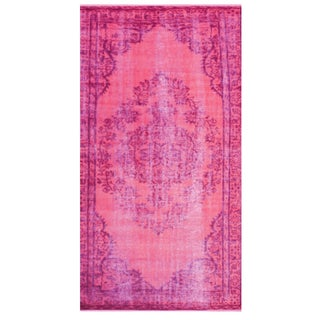 Magenta Chroma Overdyed Rug - 9' × 12' For Sale