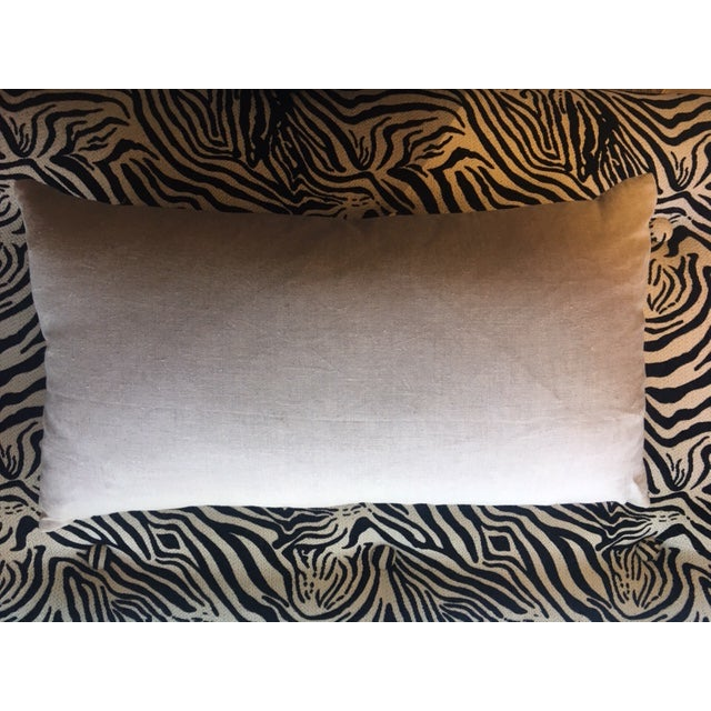 Hollywood Regency Fortuny Lumbar Pillow For Sale - Image 3 of 4