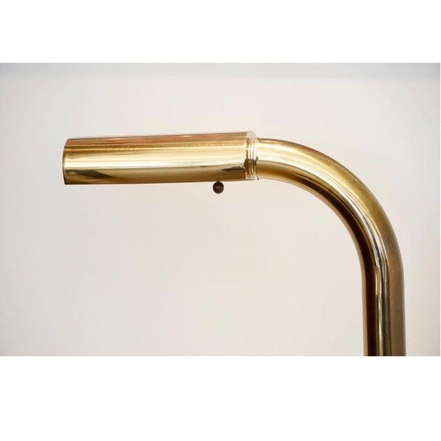 1970s 1970s Brass Tube Floor Lamp For Sale - Image 5 of 9