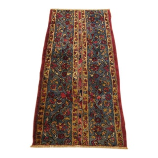 Antique Indian Agra Oriental Rug For Sale