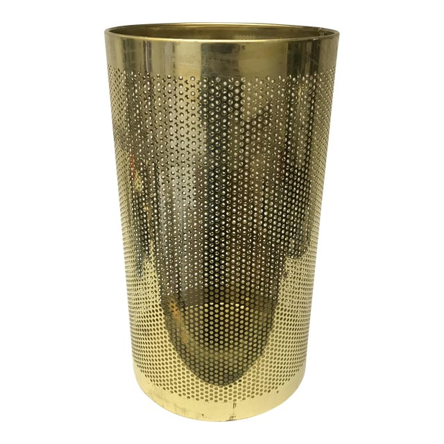 Perforated Brass Bin For Sale