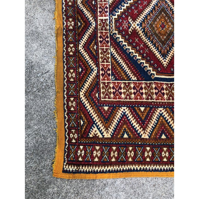 1950s Vintage Moroccan Hand Knotted Rug- 5′ × 8′6″ For Sale In Dallas - Image 6 of 10