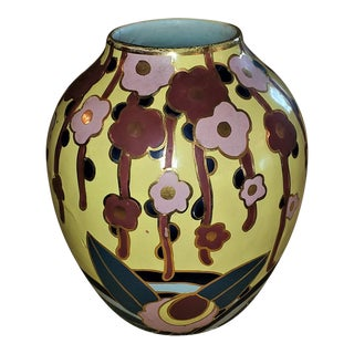Belgian Art Deco Ceramic Vase by Cerabelga For Sale