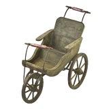 Image of Vintage Wooden Baby Stroller For Sale