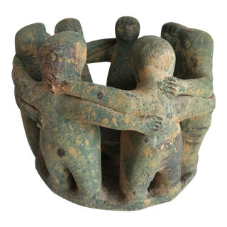 Boho Tribal Primitive Sculpture For Sale