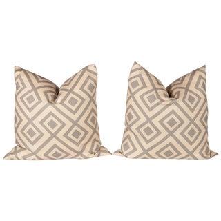 Gray David Hicks Fiorentina Pillows- A Pair