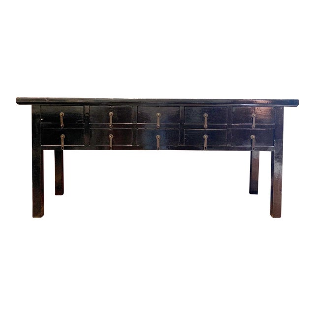 19th Century Console Table With Drawers For Sale