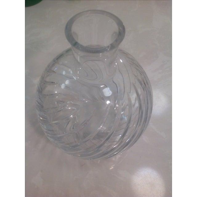 Baccarat Cyclades Crystal Ball Swirl Twist Vase - Image 2 of 6