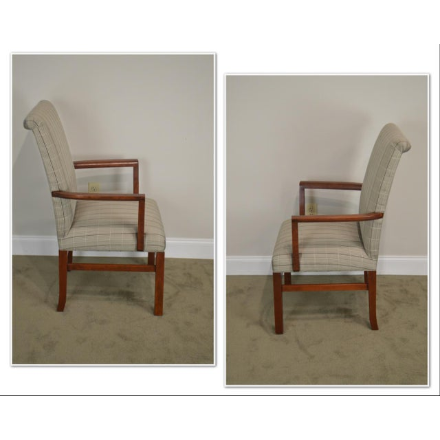 *STORE ITEM #: 19109 Stickley 21st Century Collection Set of 6 Cherry Upholstered Dining Chairs AGE / ORIGIN: Approx. 10...