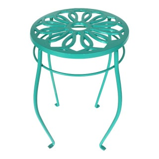 Iron Side Table/Stool/Pedestal for Interior or Exterior Use For Sale
