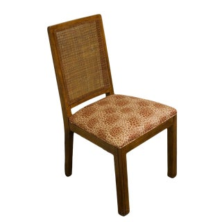 Late 20th Century Vintage Davis Cabinet Co. Solid Walnut Cane Back Dining Side Chair For Sale