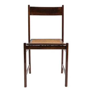 Set of 4 Brazilian Rosewood and Caned Dining Chairs Attributed to Joaquim Tenreiro-1950's For Sale