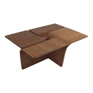 1960s Mid-Century Modern Bent Plywood Coffee Table For Sale