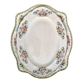 Mismatched Antique Platters - A Pair
