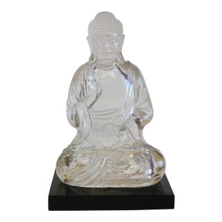 Vintage Lucite Buddha Figure For Sale