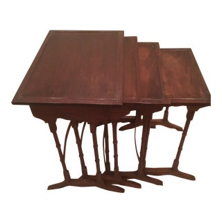 1920s George III Style Mahogany Nesting Tables - Set of 4 For Sale