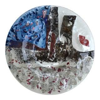 1990s Kaleidoscopio Art Glass Plate For Sale