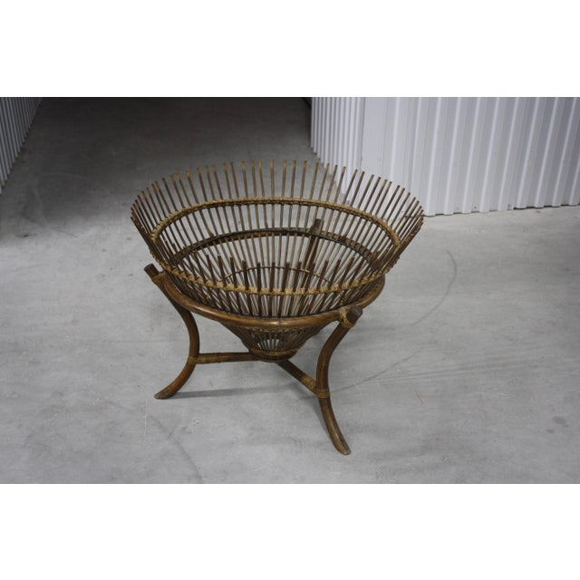 1960s Vintage Franco Albini Style Fish Trap Side Table For Sale - Image 5 of 13
