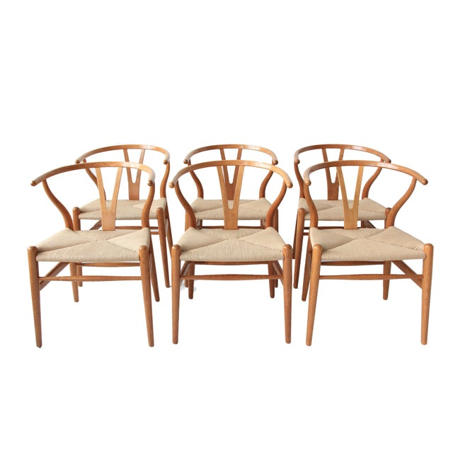 Vintage Hans Wegner Wishbone Chairs - Set of 4 - Image 1 of 10