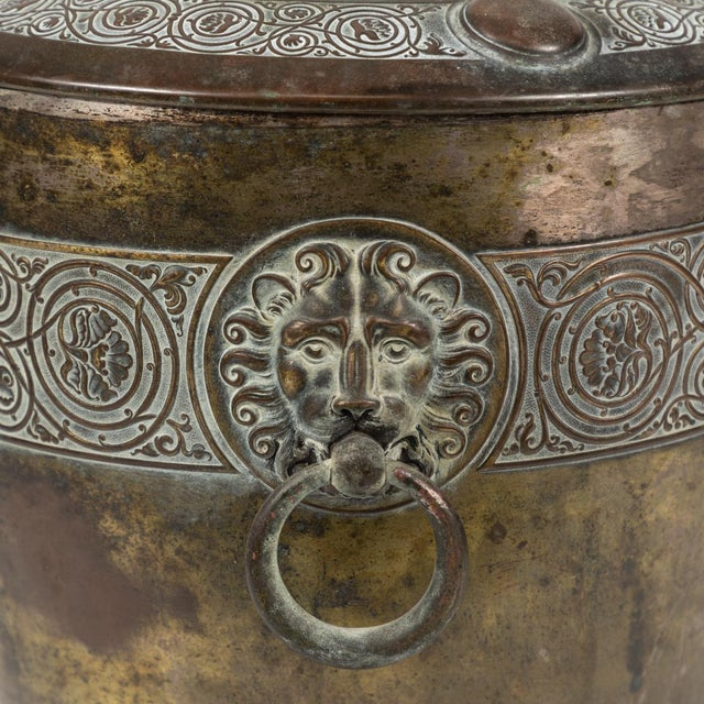 Late 19th Century Brass Pot For Sale - Image 5 of 6
