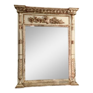 French Empire Style Trumeau Mirror For Sale