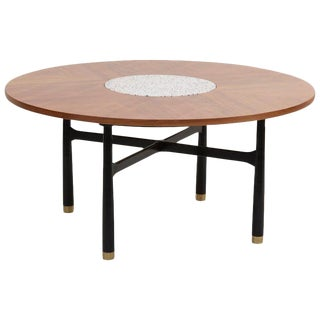 Huge Harvey Probber Walnut and Terrazzo Marble Table For Sale