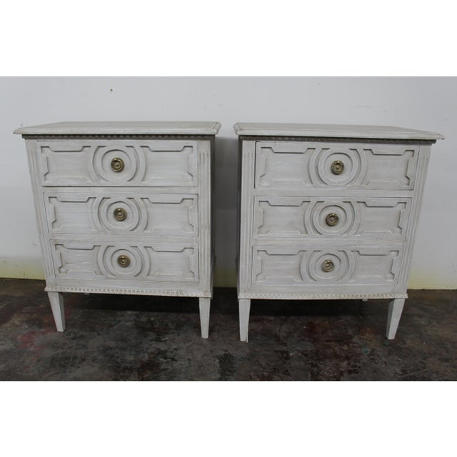 20th Century Vintage Swedish Gustavian Style Nightstands-A Pair For Sale - Image 10 of 10