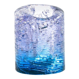 Jungle Contemporary Vase, Small Bicolor Transparent and Blue resin by Jacopo Foggini For Sale