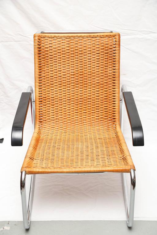 Marcel Breuer For Thonet B35 Rattan Lounge Chair With Changeable Armrests    Image 2 Of 9