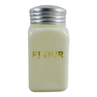 Custard Glass Vintage Flour Shaker For Sale