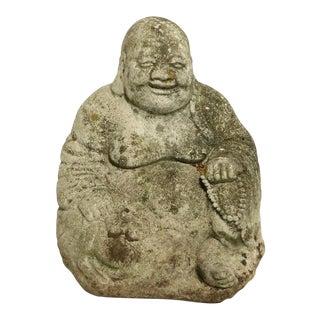 Diminutive cCast Stone Seated Chinese Biuddha For Sale
