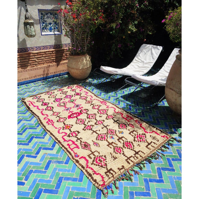 Pink Atlas' Moroccan Azilal Rug - 4′2″ × 8′10″ - Image 5 of 5