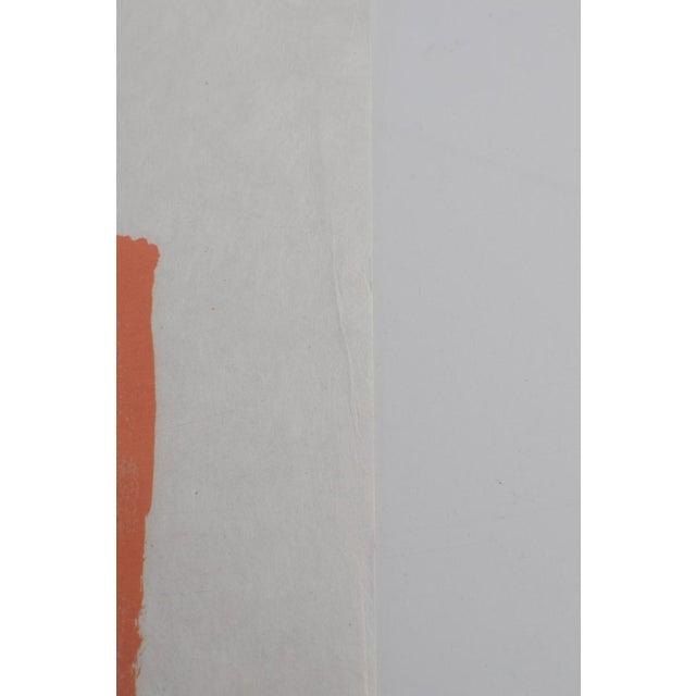 "Coral 1980s Bernard Cathelin ""Haiku"" Lithograph Print For Sale - Image 7 of 9"