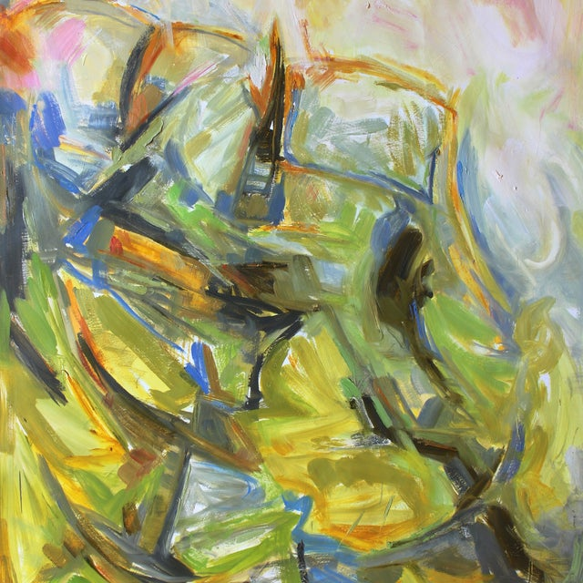"""Trixie Pitts """"Lovers' Rock"""" Abstract Painting - Image 3 of 3"""