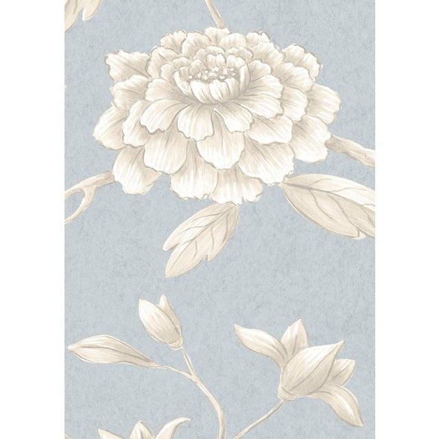 English Lewis & Wood Jasper Peony Cirrus Botanic Style Wallpaper Sample For Sale - Image 3 of 4