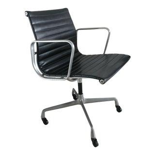 Vintage Herman Miller Eames Black Leather Manager Desk Chair