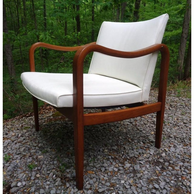 Rare 1960 Barney Flagg for Drexel Parallel Bent Wood Club Chair For Sale - Image 13 of 13