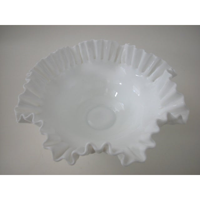 Vintage Milk Glass Hobnail Bowl - Image 5 of 6