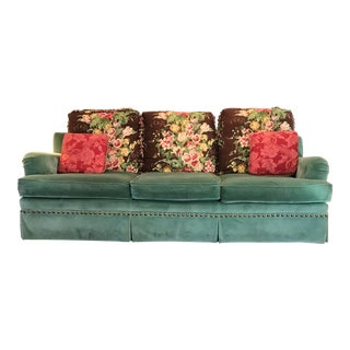 Scalamandre Floral Velvet Sofa For Sale