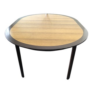 Mid-Century Dunbar English Oak and Rosewood Dining Table For Sale