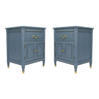 Mid Century Neoclassical Nightstands - a Pair