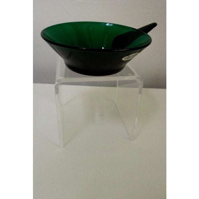 Winslow Anderson Blenko Green Art Glass Dish - Image 2 of 9