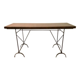 Hickory Chair Industrial Modern Desk/Console Table For Sale