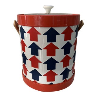 1960s Mod Arrow Graphic Ice Bucket For Sale