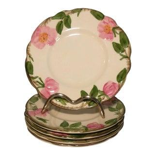 1940s Franciscan Desert Rose Bread & Butter Plates - Set of 5 For Sale