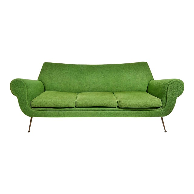 Curved Three Seater Sofa by Gigi Radice For Sale